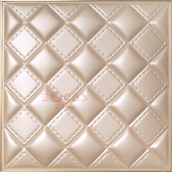 Luxury Pu(Polyurethane) Leather 3d Decorative 3d leather wall panels