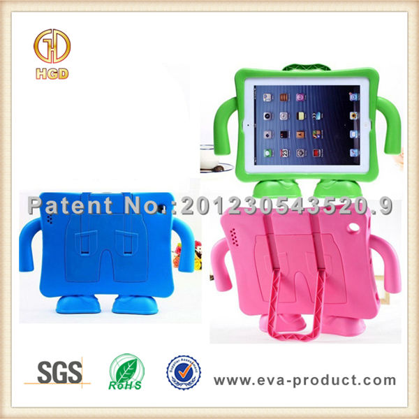 Popular among children cute case for ipad 3,protective soft eva case for ipad 3