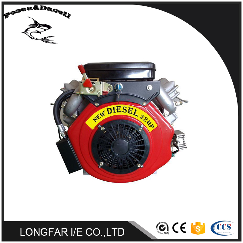 22hp air cooled v-twin two cylinder diesel engine lawn mower Vertical shaft Horizontal shaft diesel engine