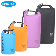 SINOTOP custom stock various sizes small 2L to 20L floating waterprooof dry bag tarpaulin for outdoor sports