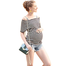 Wholesale striped style maternity nursing breastfeeding sex image clothes