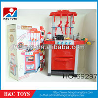 Best selling toys kitchen set,kitchen set for children with light and music HC169297