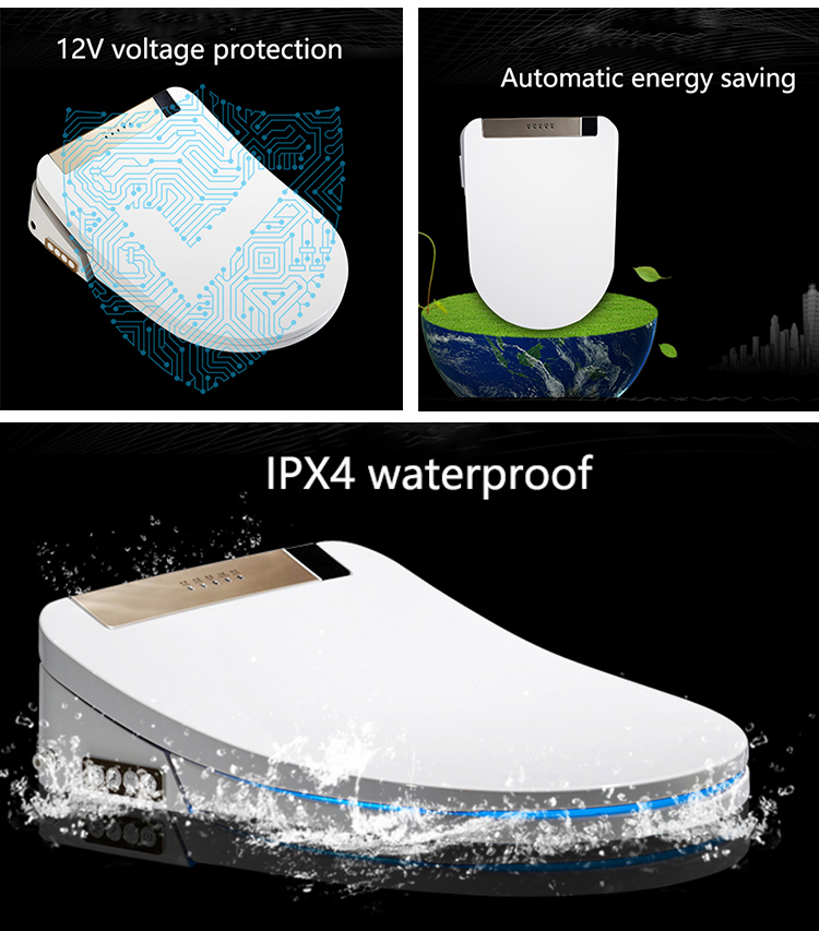 Multi-function durable smart intelligent sanitary waterproof bidet seat toilet  cover