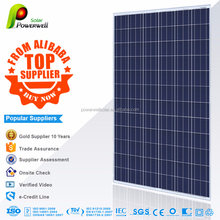 Powerwell Solar 300W Poly Super Quality And Competitive Price CE,CEC,IEC,TUV,ISO,INMETRO Approval Standard Flexible Solar panel