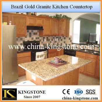 Brazil Gold Kitchen Prefab Countertop Island Buy Prefab
