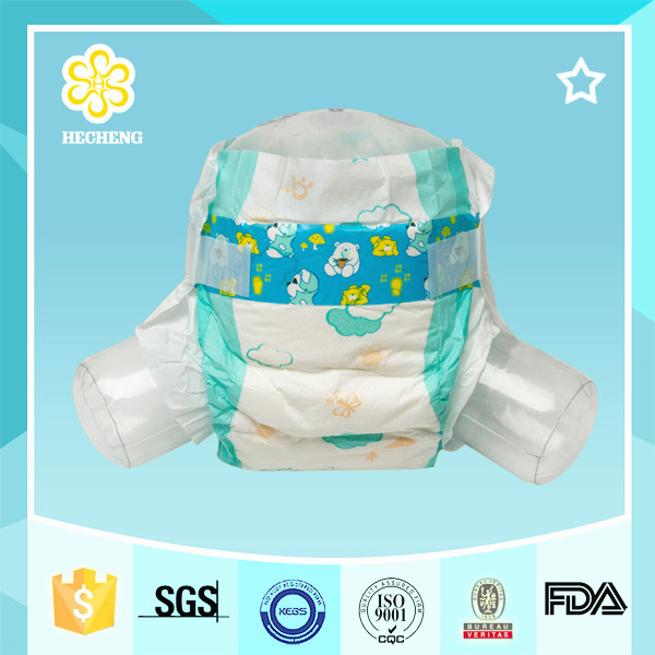 Economic high absorbent 2017 Wholesale colored disposable baby diapers