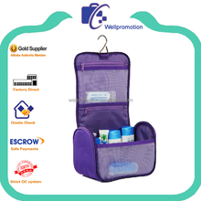 New design promotional stylish hang toilet articles bag purple for ladies