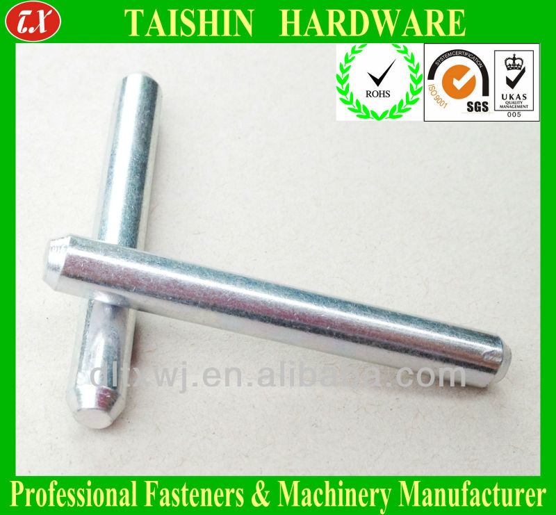 Metal Round Rods or Threaded Dowel Pin Fastener with Chamfer End