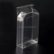 Custom clear PVC acetate greeting card packaging box Plastic transparent folding box