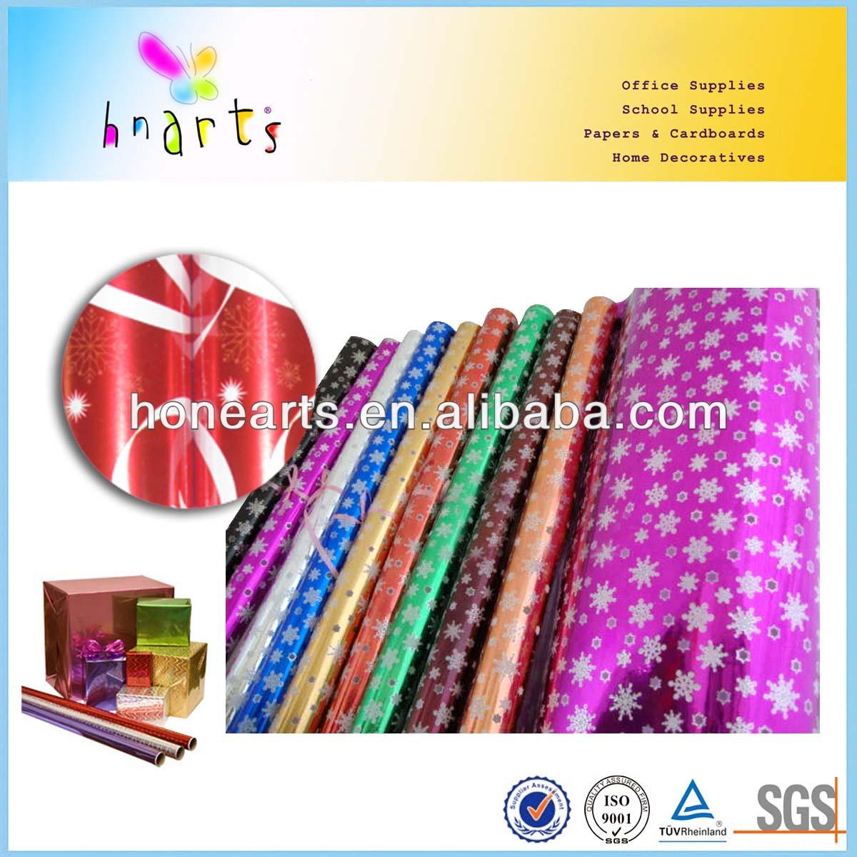 mylar gift wrap