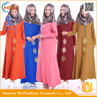 Zakiyyah601 2016 New Arrival Ladies Western Dresses Designs Maxi Formal Kaftan Muslim Abaya Sale