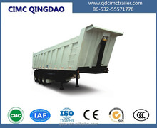 Heavy duty 3 axles 30t hydraulic tipper dump trailer