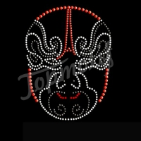 hotfix rhinestone transfer motif chinese opera mask on heat printing paper