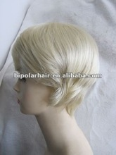 Silky straight short braid synthetic wig
