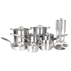 Daily Cookware Pot Set 6P Stainless steel 18/10 16/20/24cm