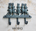 antique home decor cast iron rabbit hooks coat hook