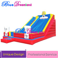 2016 Royal CAT New Design pvc Inflatable slides jumping trampoline inflatable castle bouncer