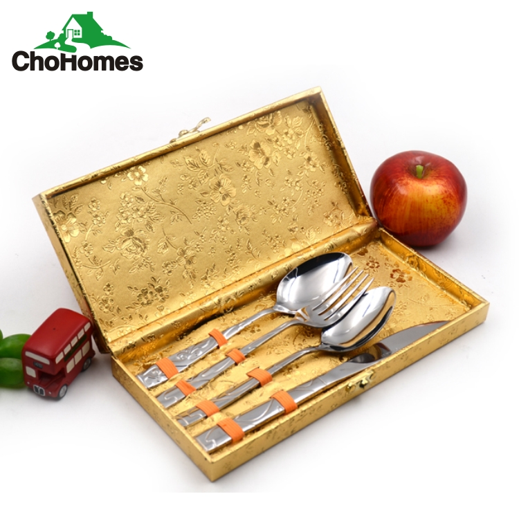 72pcs gold plated cutlery set and bulk gold flatware