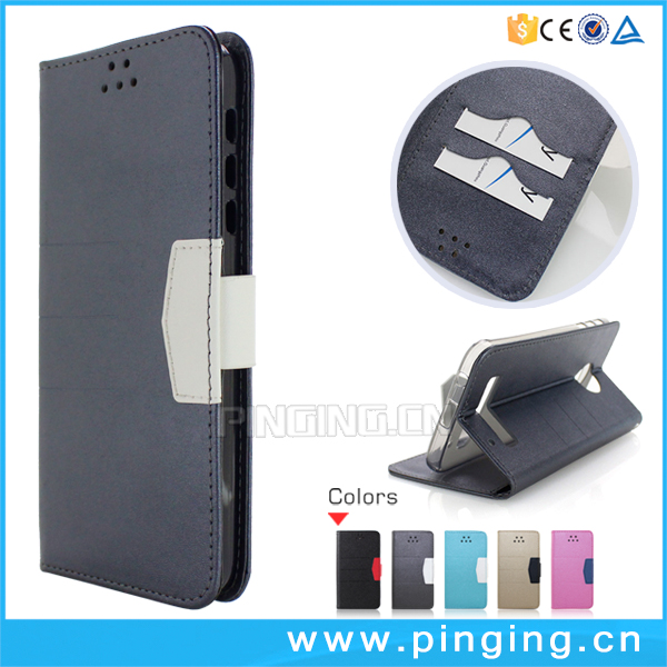Guangzhou Pinjun scrub flip leather cover mobile phone case for ZTE Zmax Champ , wallet case for ZTE Zmax Champ