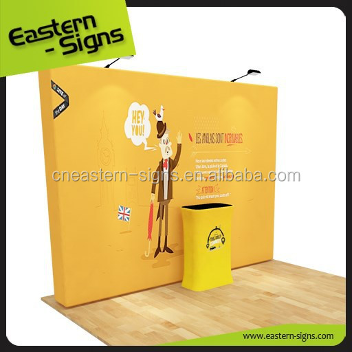 LED booth polyester exhibition booth event backdrop wholesale