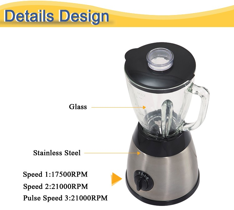 300W 1000Ml 2 Speeds And Pulse Switch High Quality Cooker Multi-Purpose Blender