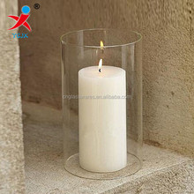 borosilicate cylinder glass tube glass candle cover