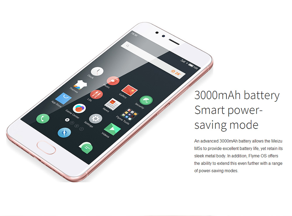 "Global MEIZU M5S 5.2"" 16GB ROM 5.0+13.0MP MT6753 Octa Core 1.3GHz 4G LTE Flyme 5 Smartphone Quik Charge Metal Body"