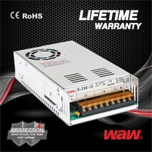24v 16.67a 400w S-400-24 ac to dc 110V/220V Switching Power Supply CCTV power supply with CE ROHS approved