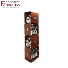 Modern durable metal floor wine display cube display showcase for wine storage