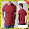 Wholesale custom plain round neck short sleeves cotton blank t-shirt for men