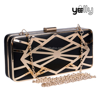 Luxury Detachable Chains Clutch Box Evening Bag