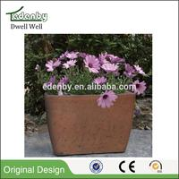 outdoor plant 2016 plant container Silver plastic material planter