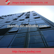glass curtain wall awning system