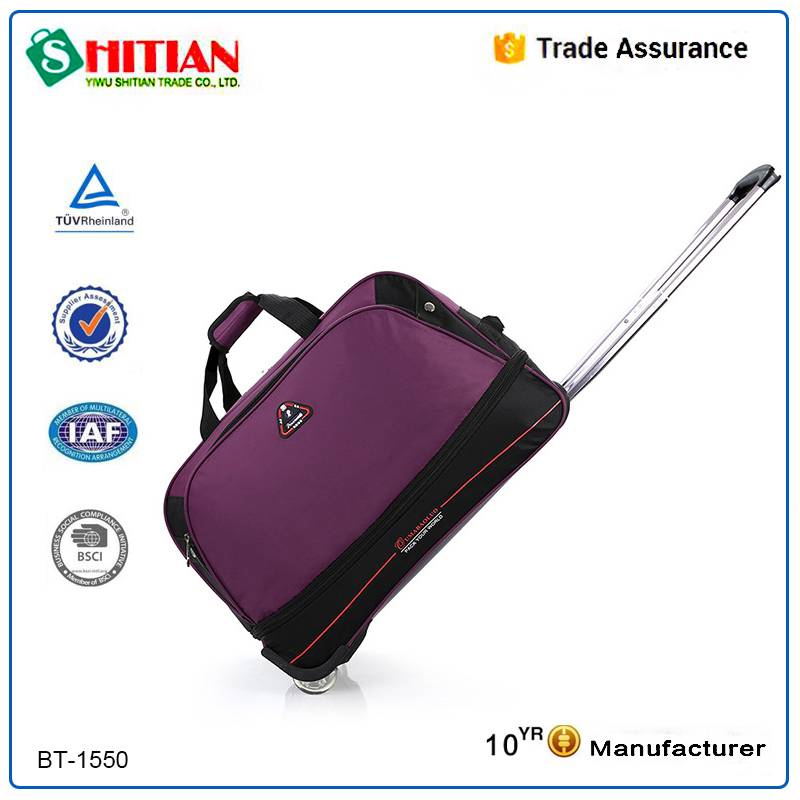 2015 two wheel Mini handle duffel travel trolley bag