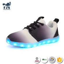 HFX865 2017 Kids new design led shoes china canvas shoes