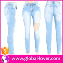 Ready Made Jeans Fashion High Waist Jeans Denim Jeans Made in China