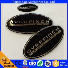 Car grill logo auto sticker Badge Emblem for overfinch steering wheel