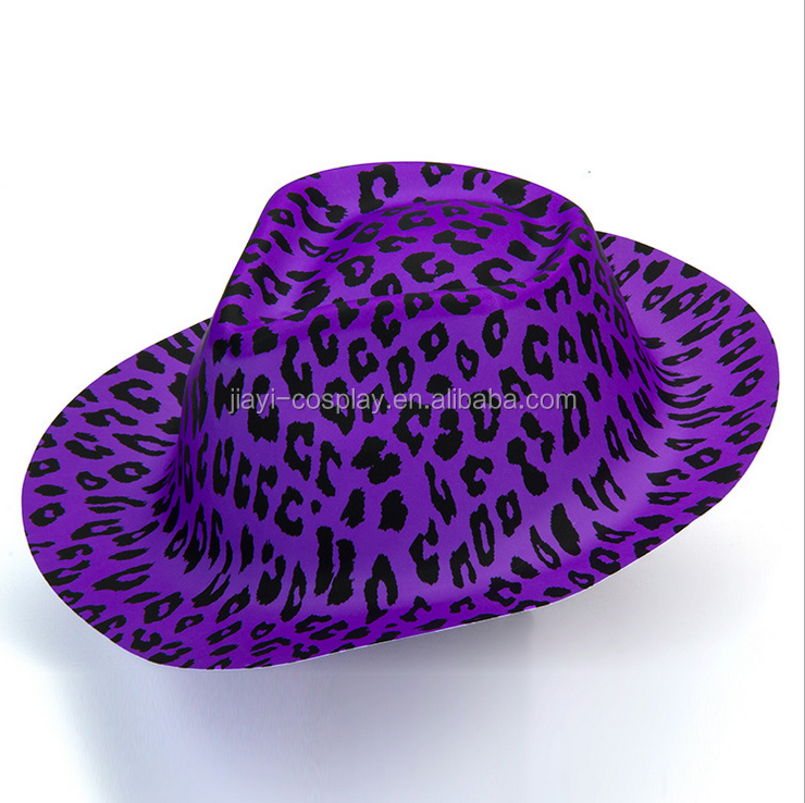 Customized party quanlity purple cowboy hat wholesale