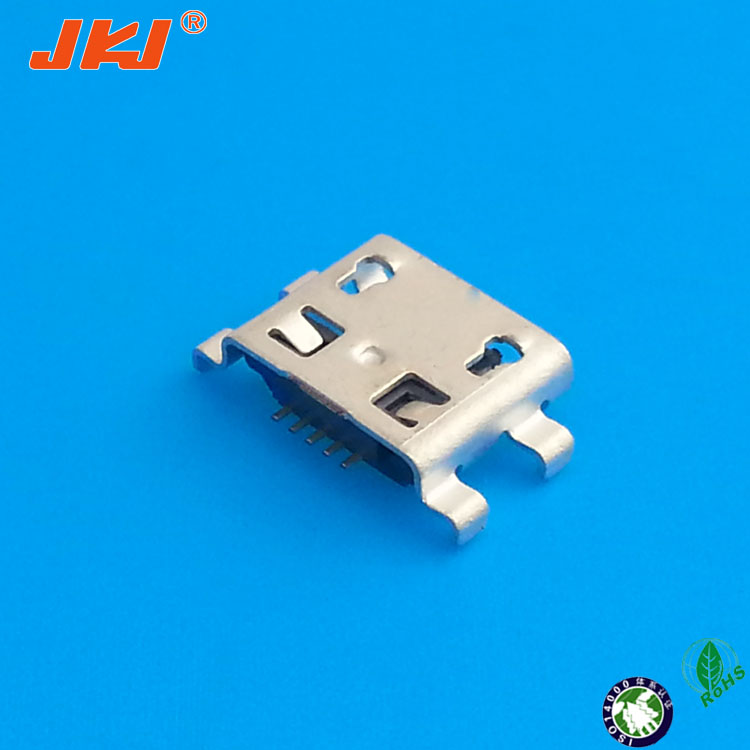 port micro usb lock reversible right angle pcb mount usb connector