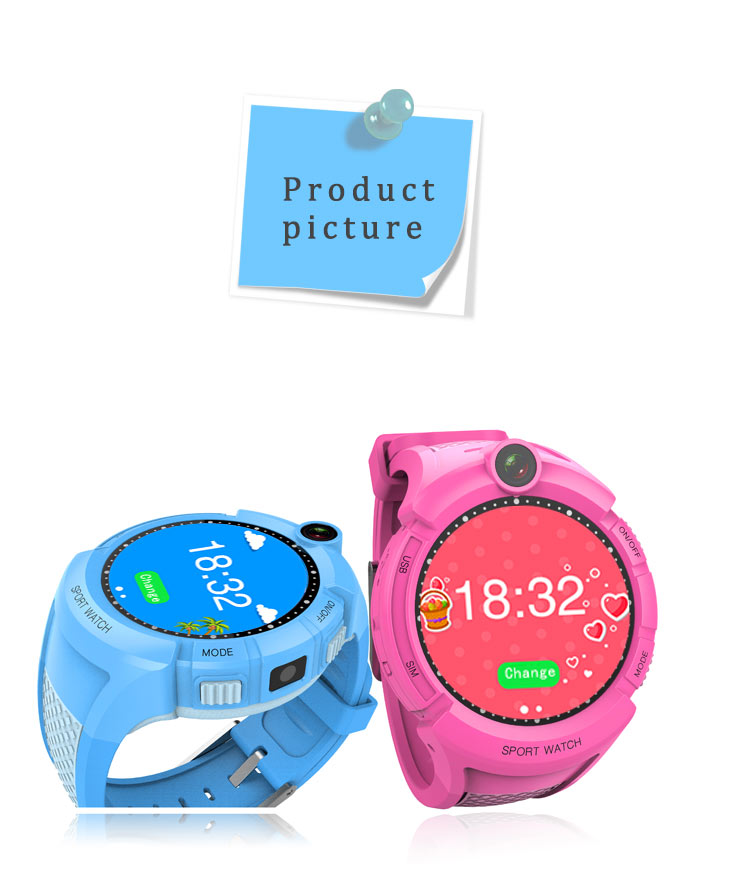 Round screen child smart watch dm360 Q610