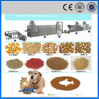 CE ISO Italia technology fully automatic floating fish food machine extruder for pet food