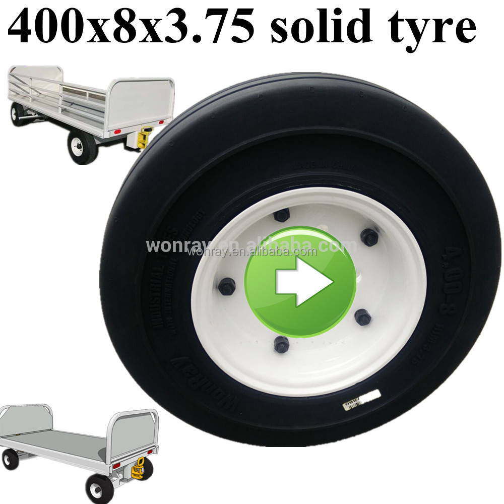cheap chines solid tyre wonray brands for cargo car at airport 4.00-8