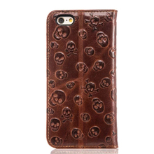 Logo customized cowhide leather phone case for iphone6/6plus , for iphone 6/6 plus leather shell ,flip leather case cover