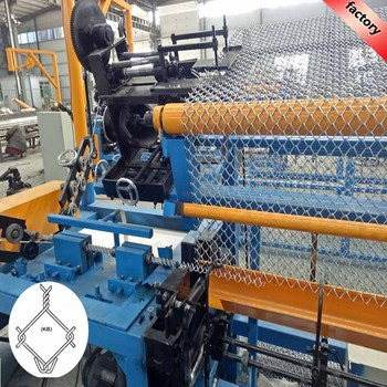 high quality used fully-automatic chain link fence machine with large capacity
