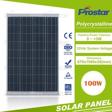 Hot selling best price silicon wafer for solar cell poly 100 watt solar panel 100w solar module