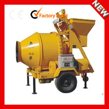 Widely used JZC500 portable concrete mixer with plastic drum for sale