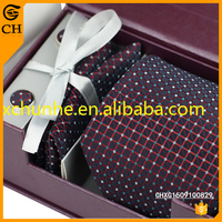 Latest Popular Satin Fabric Printing Necktie Gift Set For Men