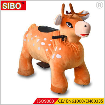 2018 Sibo plush walking animal rides token operated animal rides