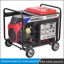 portable PMG 5kw diesel or petrol engine driven DC Small Diesel Welding Generators