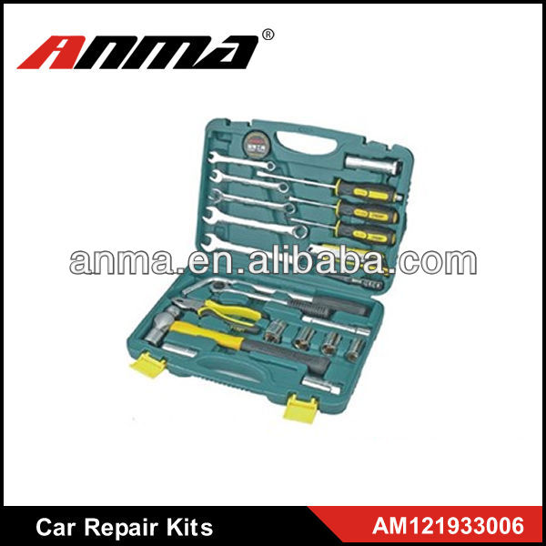 25PCS multifunction car repair tool kit emergency tool kit carman car diagnostic scan tool
